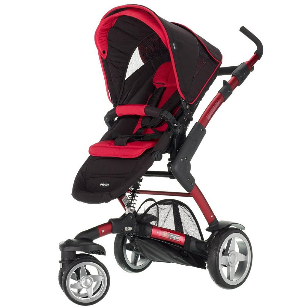 EzBrand WaLi Pushchair Black/Red