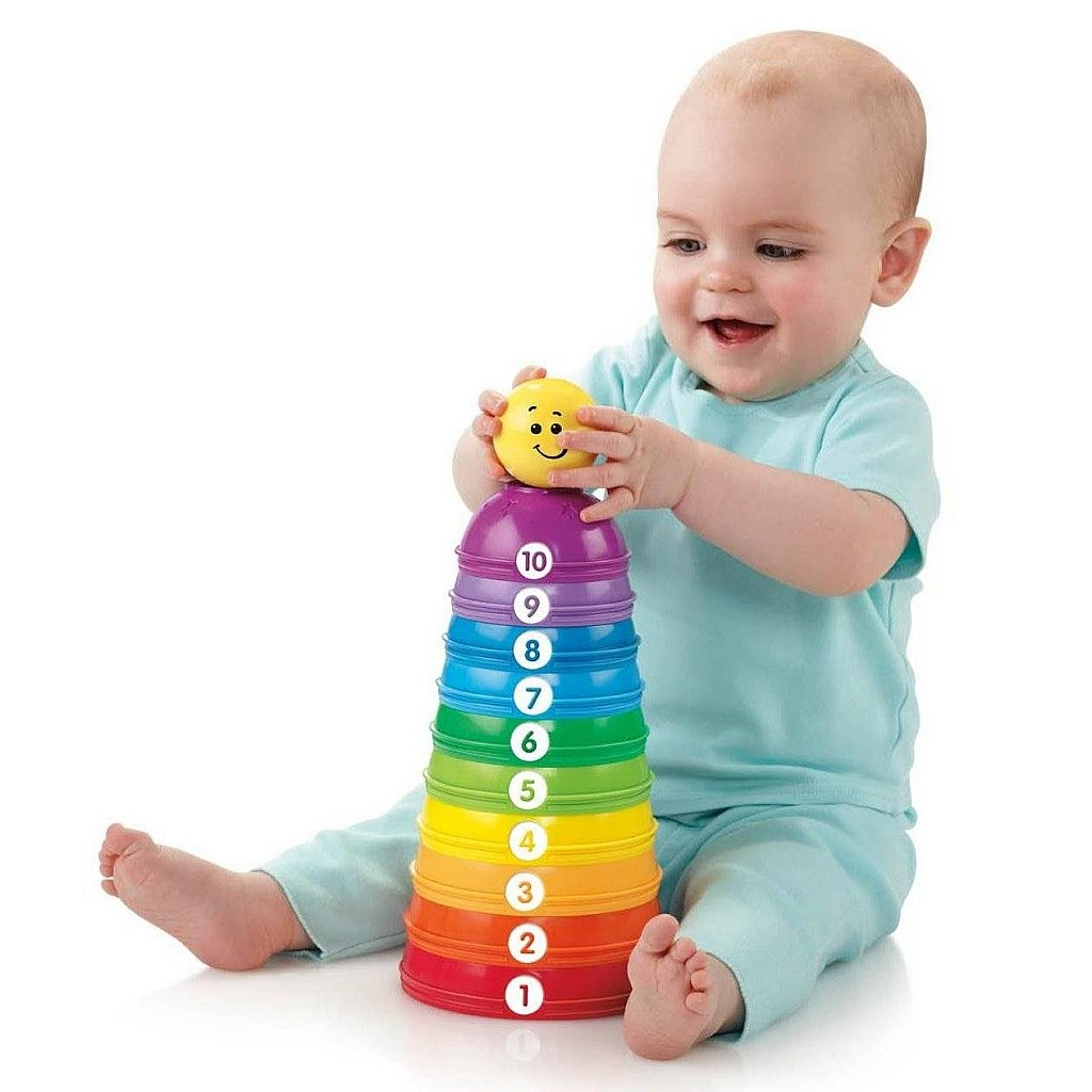 EzBrand Baby Toy - Brilliant Basics Rock-a-Stack