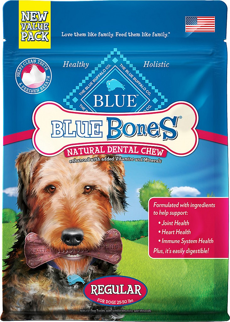 Blue Buffalo Blue Bones Regular Dental Chews Dog Treats