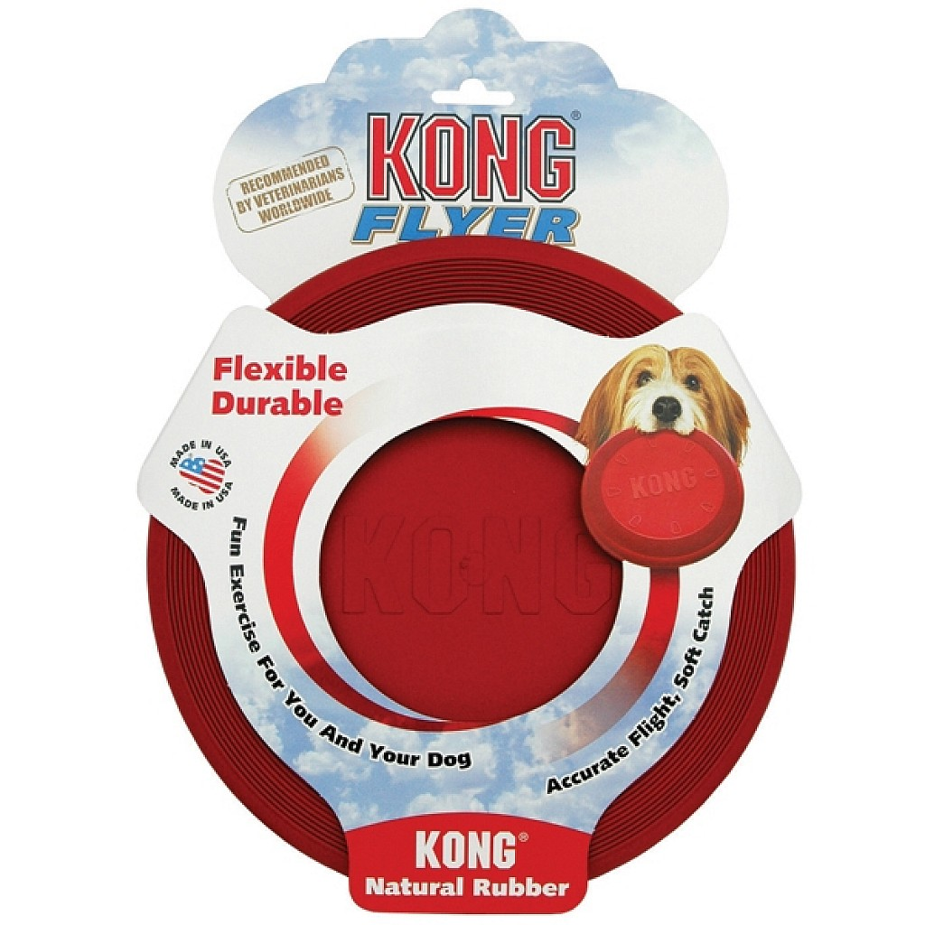 Kong Flyer Dog Frisbee Fetch Toy
